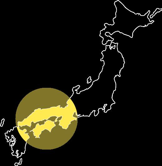 西日本石材職人さんの会:日本列島の画像